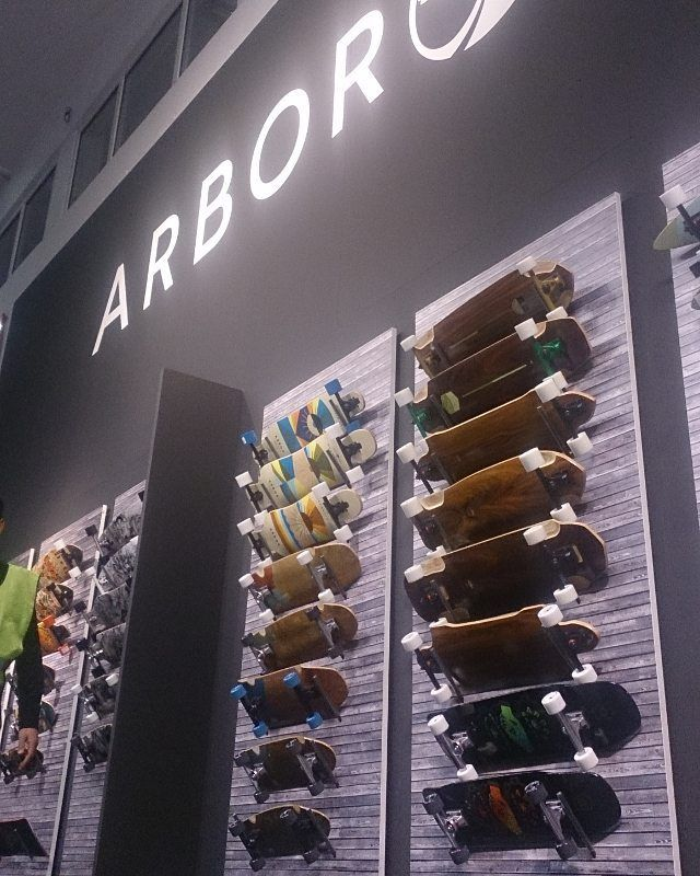 Arbor keeping it real in 2016! Some fresh boards and graphics at ISPO. Available soon!! #sickboards #ispo #tradeshow #ispomunich