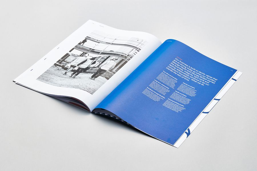 Brand identity and brochure for Auckland construction company Haydn & Rollett by graphic design studio Richards Partners, New Zealand