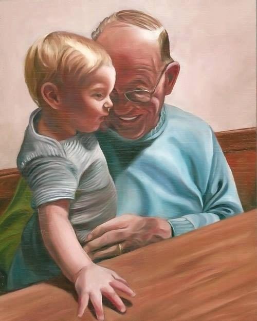 Grandpa - Oil Painting