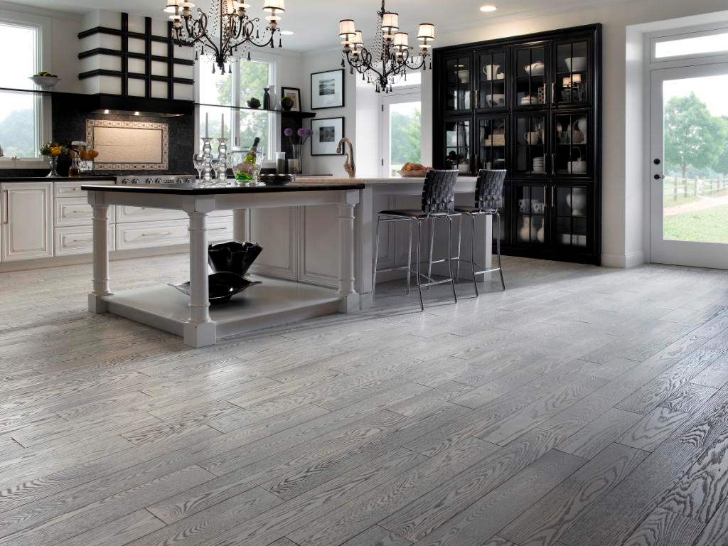 Awesome Brushed Plank Red Oak Floors From Preverco Com Living Room Wood Floor Grey Wood Floors Grey Laminate Flooring