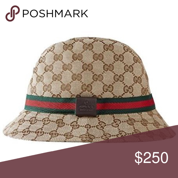 9c396151ac4be GUCCI ORIGINAL GG WEB FEDORA BUCKET HAT Gucci web bucket hat (unisex) for  men and women