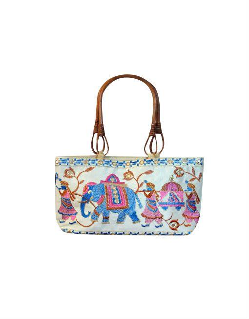 Brocaded Elephant Handbag