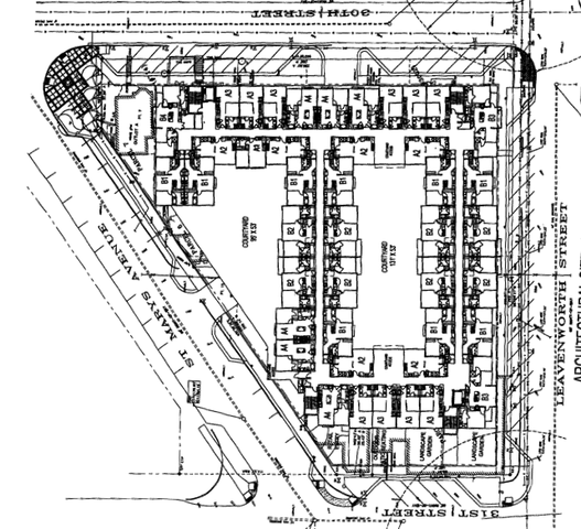 """Floorplan of the """"Midtown Triangle Apartment"""" by Urban"""