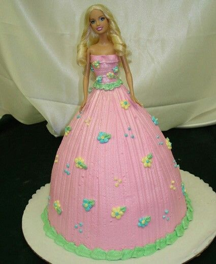 Buttercream Barbie doll cake
