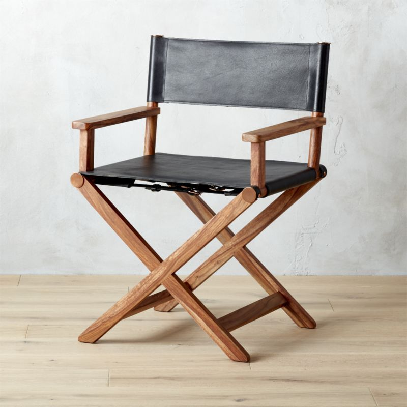 Shop curator black leather director's chair. From a ...