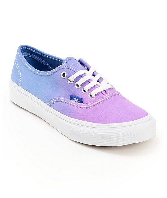 24fe72b0cc293 Keep your look timeless with a pop of color in the Vans Authentic Purple  Ombre shoes