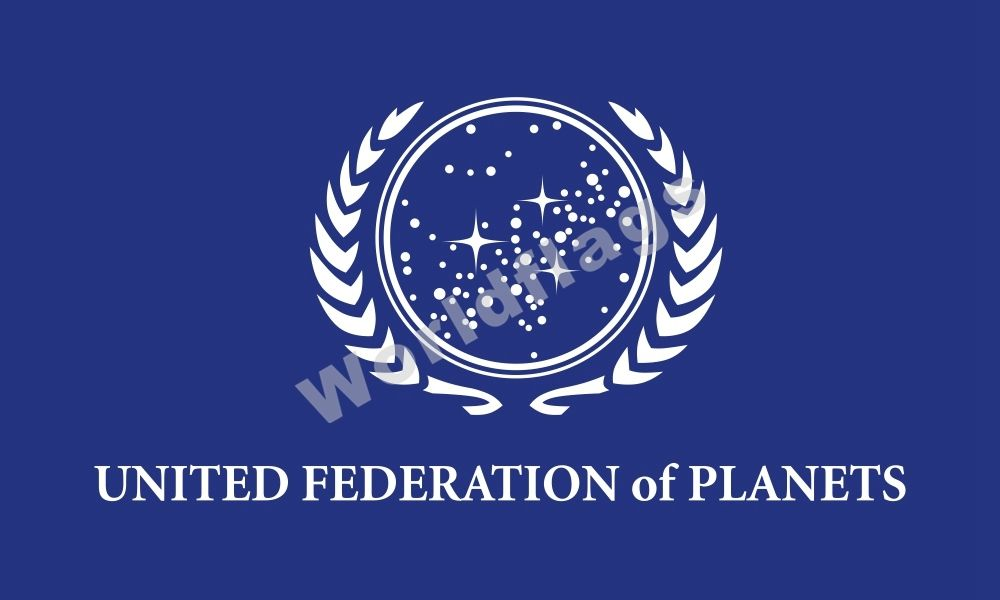The Next Generation UFP Flag Logo Embroidered Patch Blue Version NEW Star Trek