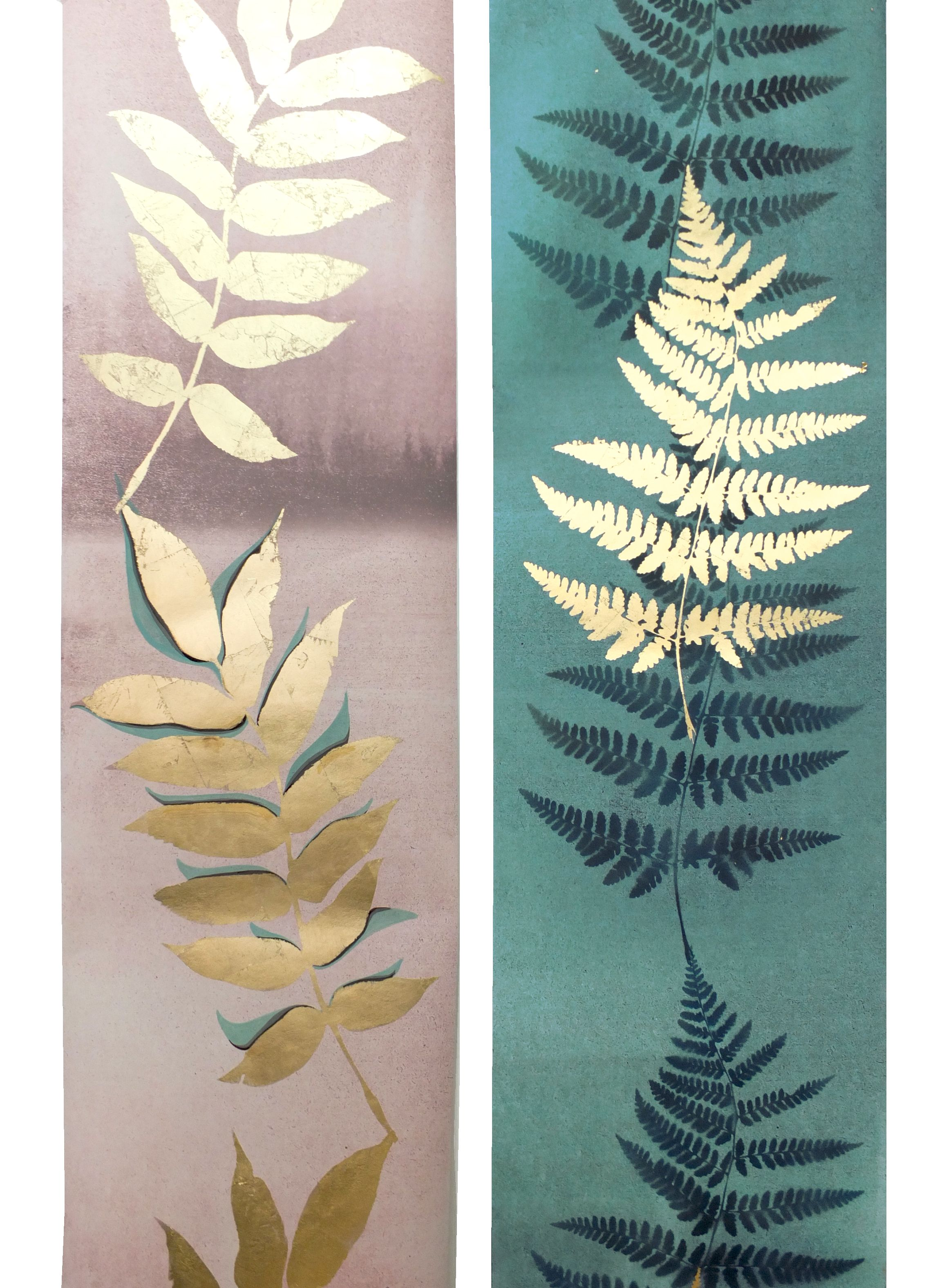 Stunning Metallic Gold Wallpapers By Louise Body Gold Leaves And Ferns Adorn These Wallpapers In Beautiful Fern Wallpaper Green Leaf Wallpaper Leaf Wallpaper
