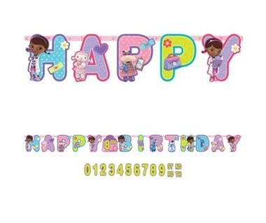 Doc Mcstuffins Letter Banner  Birthday    Banners Doc