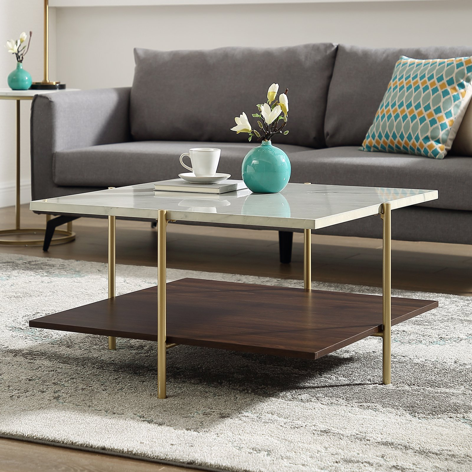 Manor Park Mid Century Square Coffee Table In 2021 Coffee Table Coffee Table Square Modern Wood Coffee Table [ 1600 x 1600 Pixel ]