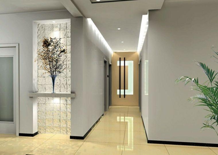 Pasillos pintados y decorados para interiores modernos for Diseno pasillos interiores