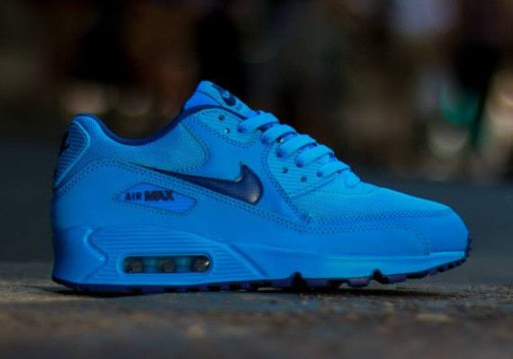 d8797966af ... the nike air max 90 gs gets laced with a dope photo blue and deep royal