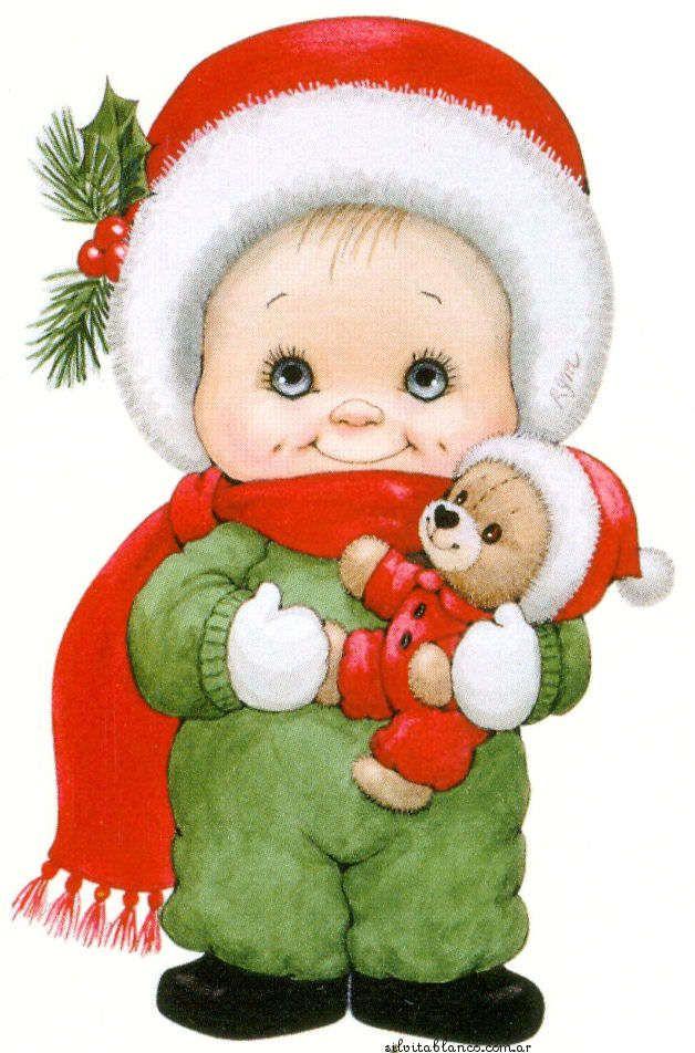 CHRISTMAS LITTLE BOY AND TEDDY BEAR | CLIP ART - CHRISTMAS 2 ...