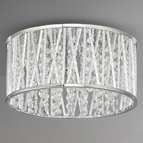 Emilia crystal drum flush ceiling light lighting online john buy john lewis emilia crystal drum flush ceiling light online at johnlewis aloadofball