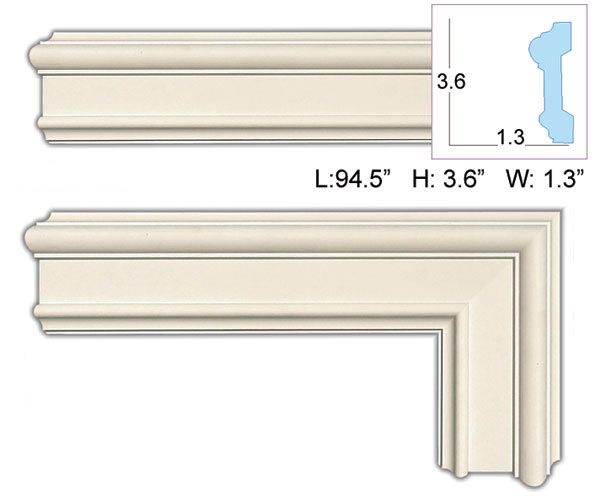 Order Crown Molding Casings And Architectural Decor At Wishihadthat Com Crown Molding Molding Door Molding