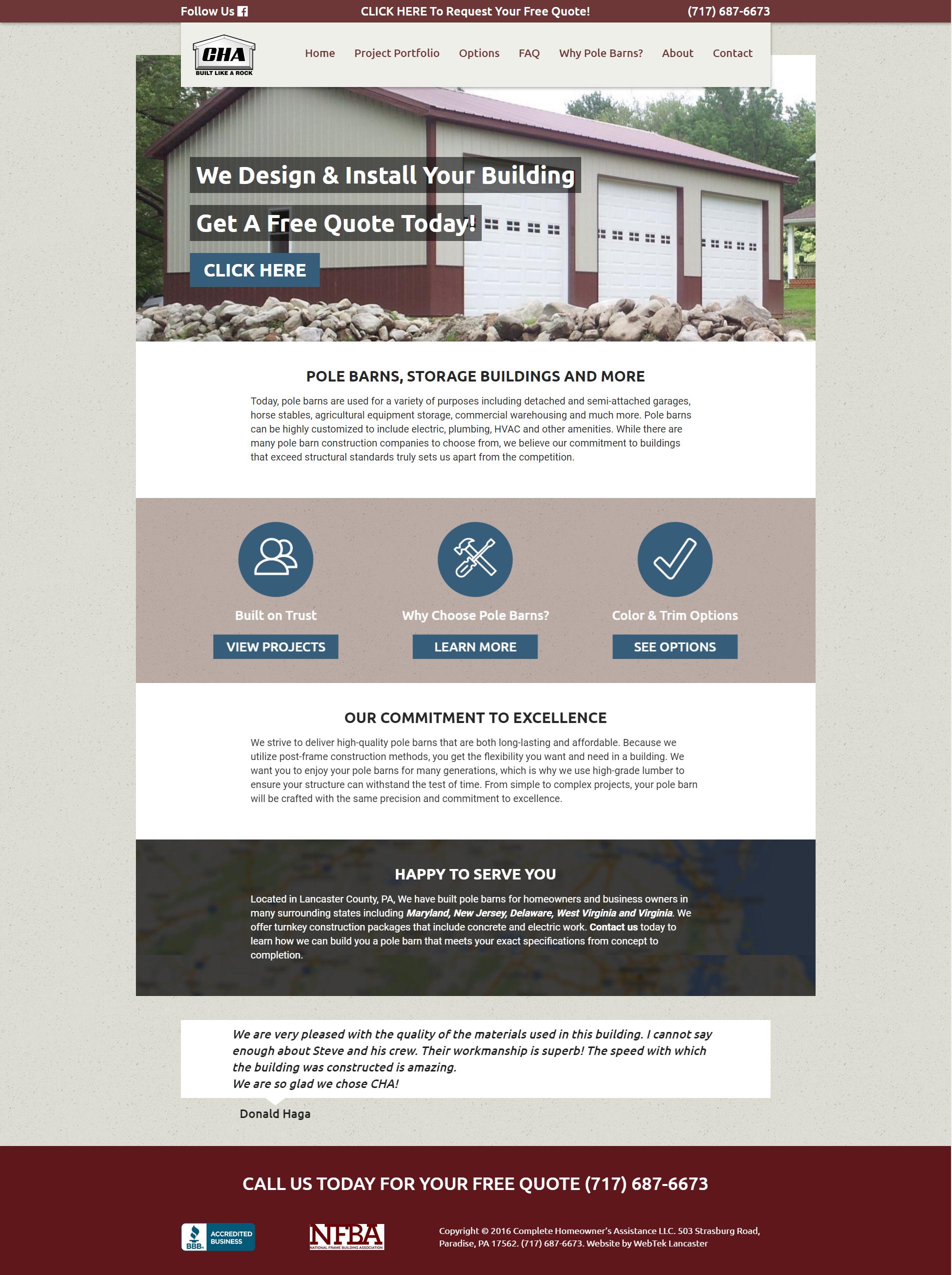 Website Redesign WordPress Platform Designed