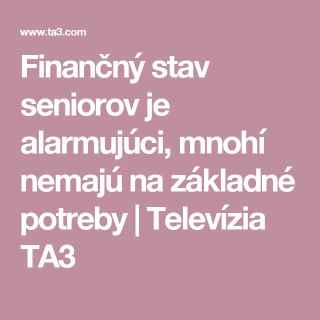 Finančný stav seniorov je alarmujúci, mnohí nemajú na základné potreby | Televízia TA3