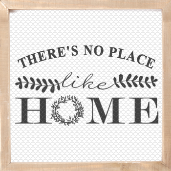 There's No Place Like Home Printable frames, Room signs