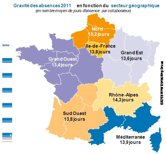 L Absenteisme Par Region Study Of Geography Infographic Human Activity
