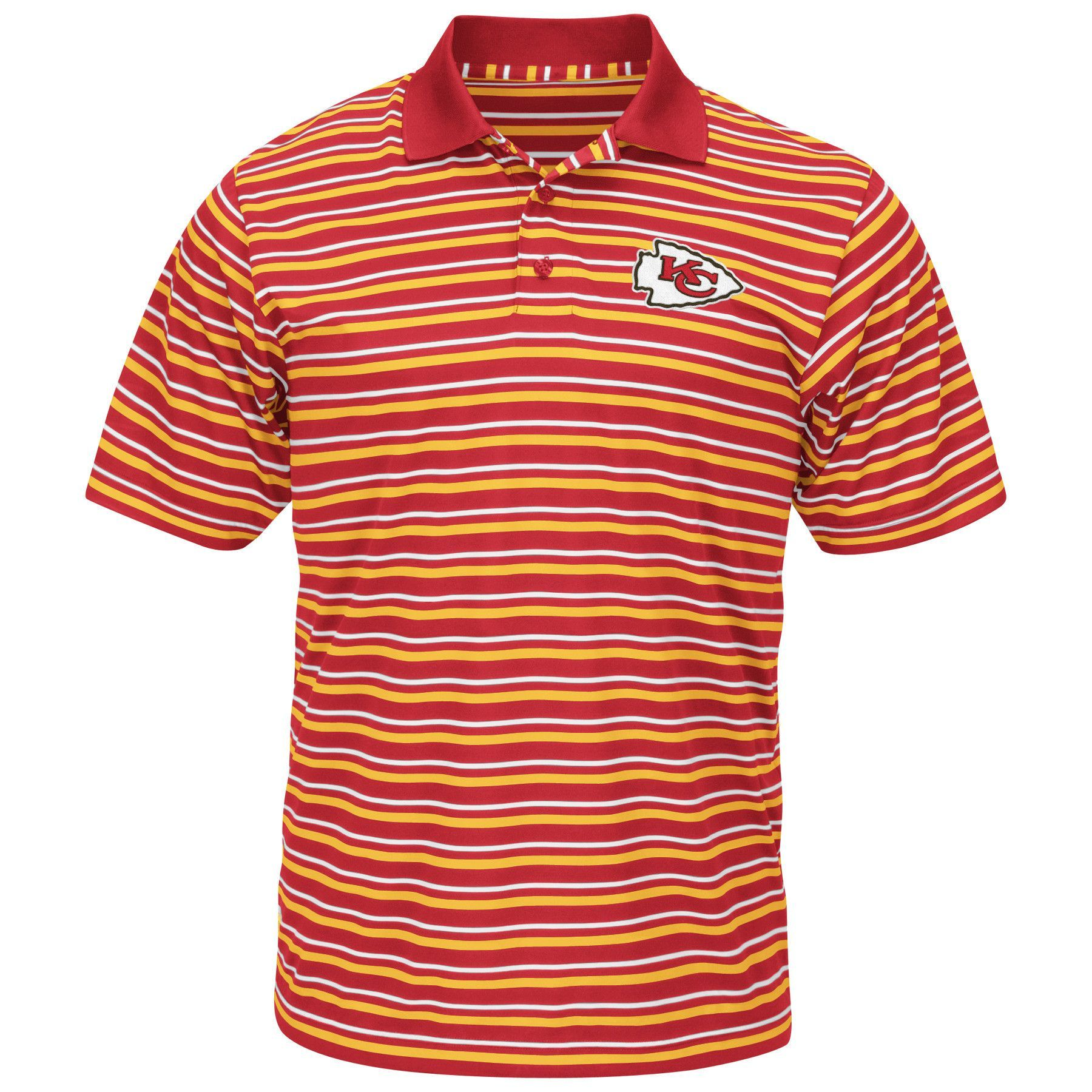 Kansas City Chiefs Coolbase Swift Attack Mens Polo Shirt By