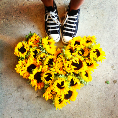 A few of our favorite things! Love, converse, and sunflowers!