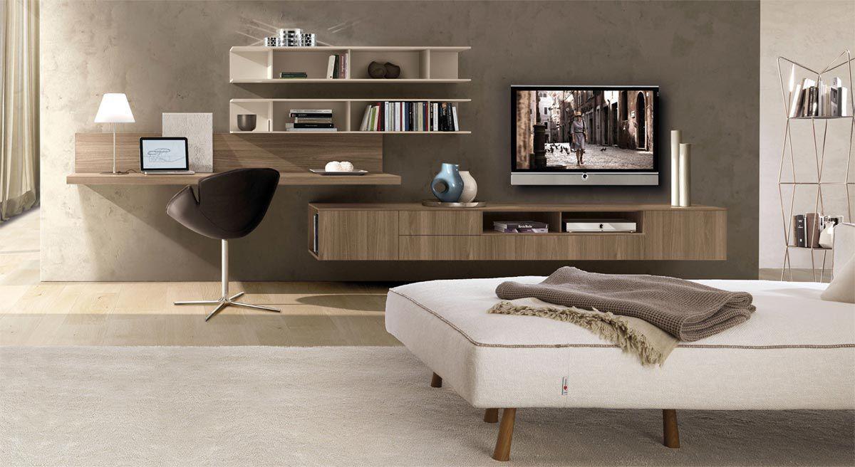 Mueble TV moderno / de olmo / de melamina - Z409 - ZALF | muebles ...