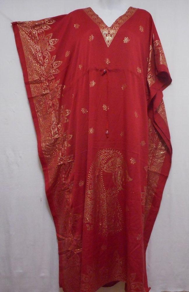 Women/'s Caftan Dress Kaftan dashiki Hippie Boho Maxi Gown Beach Cover Plus FFT02