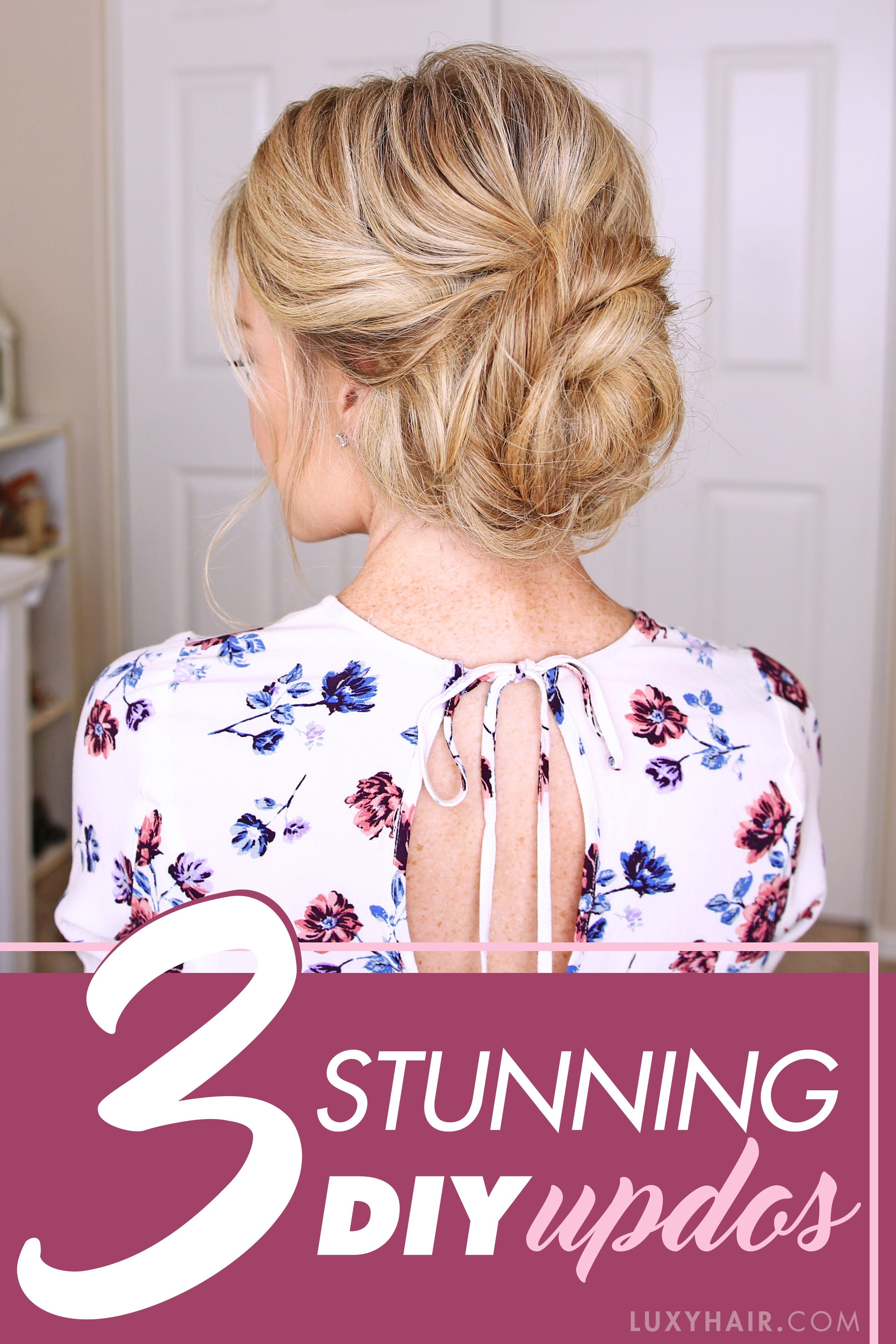 3 stunning updos that you can do yourself up dos prom and tutorials these 3 updos are gorgeous and are perfect for any special occasion wedding prom everyday hairstylesdiy solutioingenieria Image collections