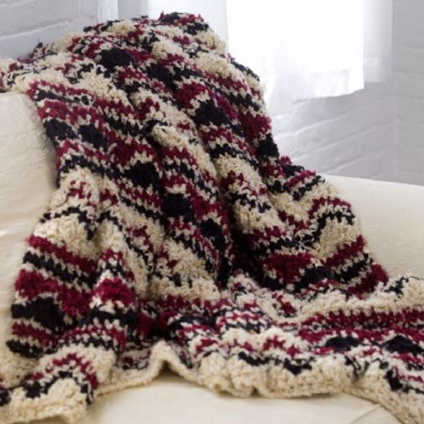 Crochet Soft Wave Chevron Throw Soft Waves Chevron Crochet
