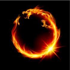 502 Bad Gateway Flame Art Fire Dragon Fire Art