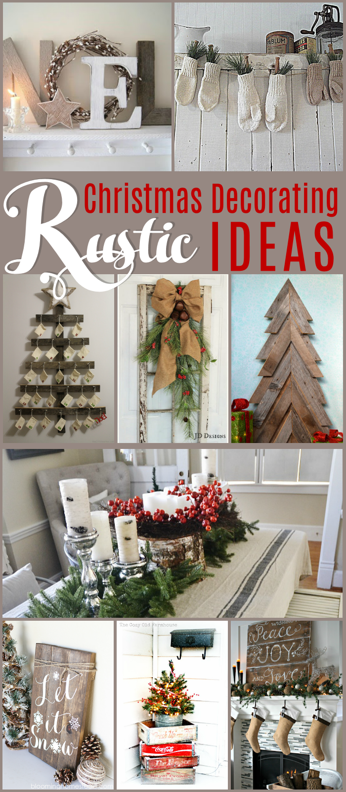 Rustic Christmas Decorating Ideas The Girl Creative Christmas Decorations Rustic Christmas Decorations Christmas Decor Diy