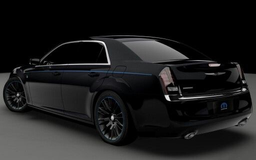 Black Chrysler 300 With Blue Stripe With Images Chrysler 300