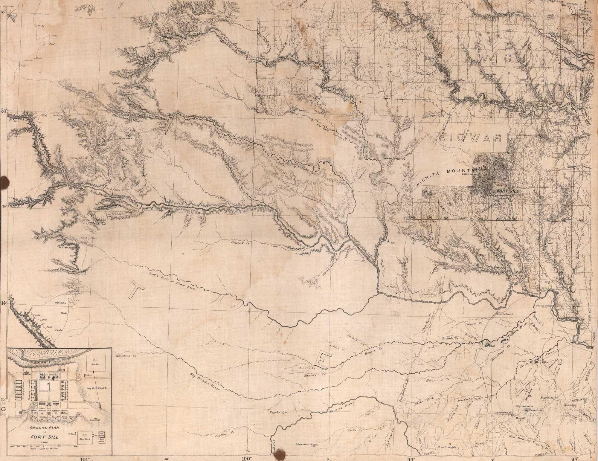 Oklahoma Civil War Sesquicentennial Kiowa Nation W Ground Plan