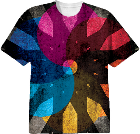 Shapes and Colors Cool Abstract All Over T shirt from Print All ...