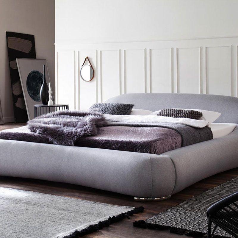 Polsterbett Hellgrau Silberne Fusse Sofaform Polsterbett Bett Polster