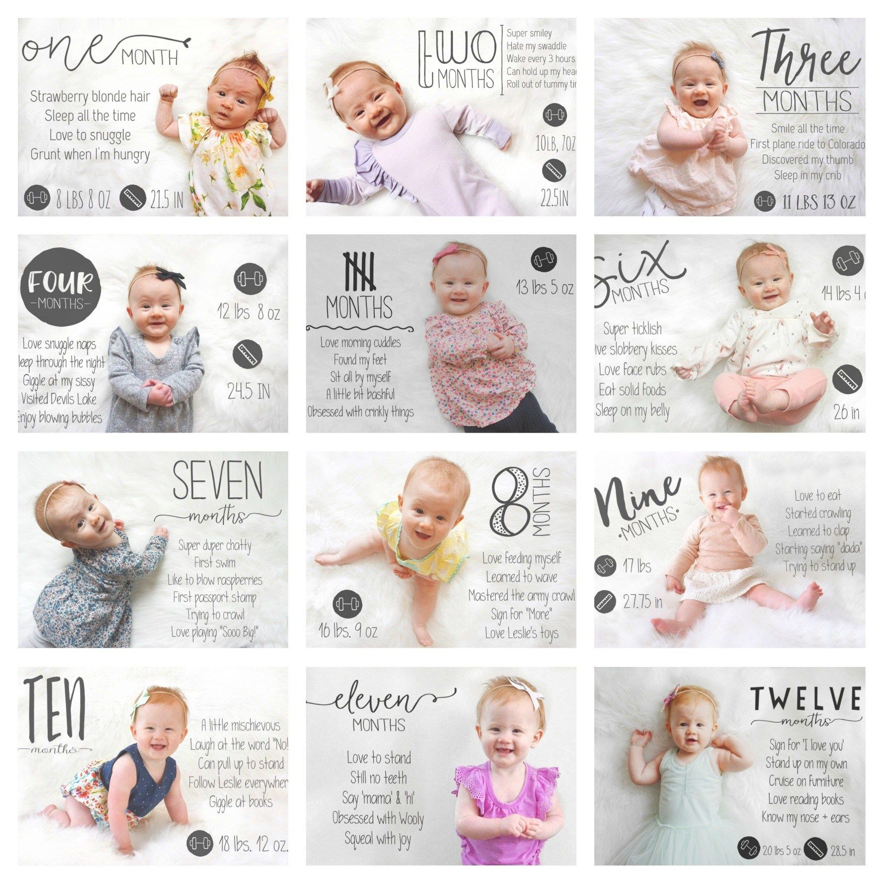 Tips For Taking Monthly Baby Photos Little Nugget Baby Milestone Photos Baby Month By Month Monthly Baby Photos