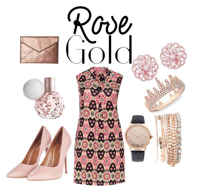 """""""Rose Gold Lady!"""" by acdclover24 ❤ liked on Polyvore featuring Samya, Jessica Carlyle, Anne Sisteron, Topshop and Rebecca Minkoff"""