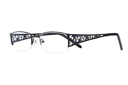 6919e0f1c6a9 Black Half-rim Stainless Steel Frame  790221