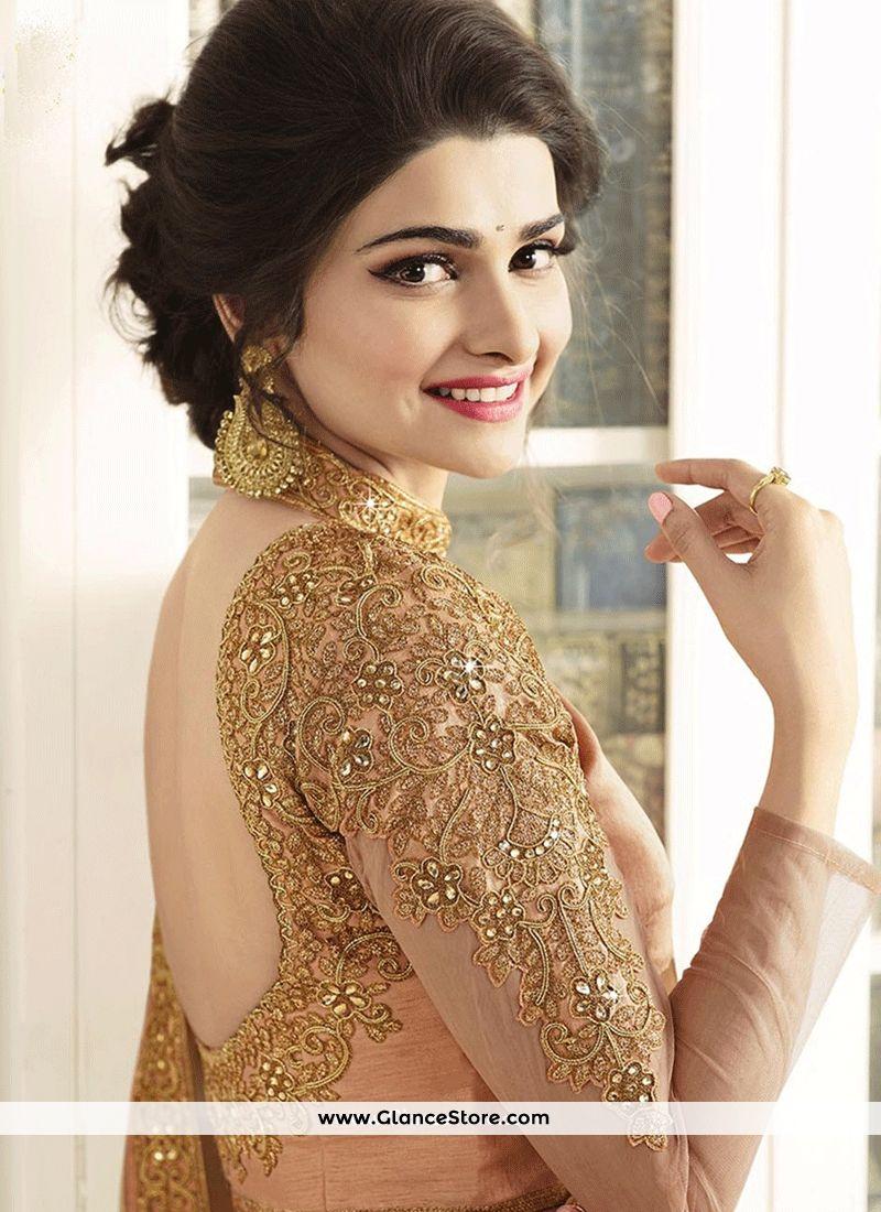 acdbde0b1d Prachi Desai Peach Shaded Saree | blouse | Sari dress, Wedding wear ...