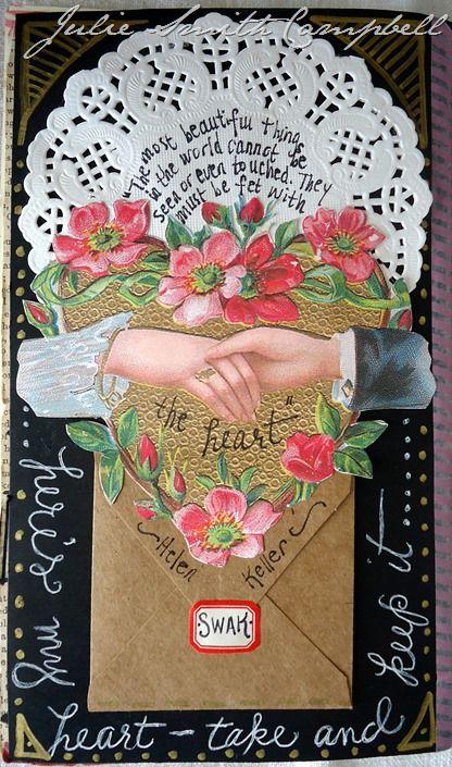Julie Smith Campbell - curved journaling | Art journal ...