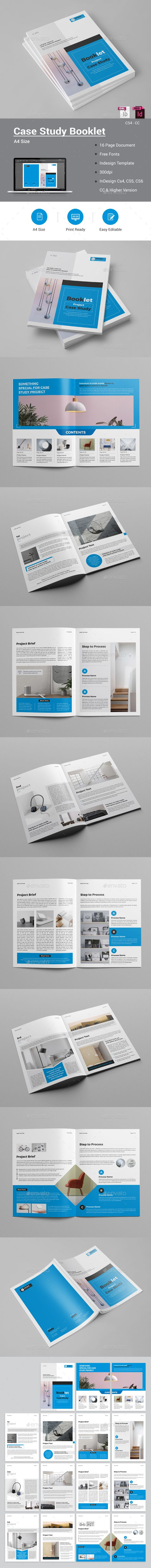 Case Study Booklet | Brochures, Brochure template and Booklet template