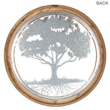 Round Wood And Metal Tree Wall Decor Round Wood & Metal Tree Wall Decor  Metal Trees  Pinterest