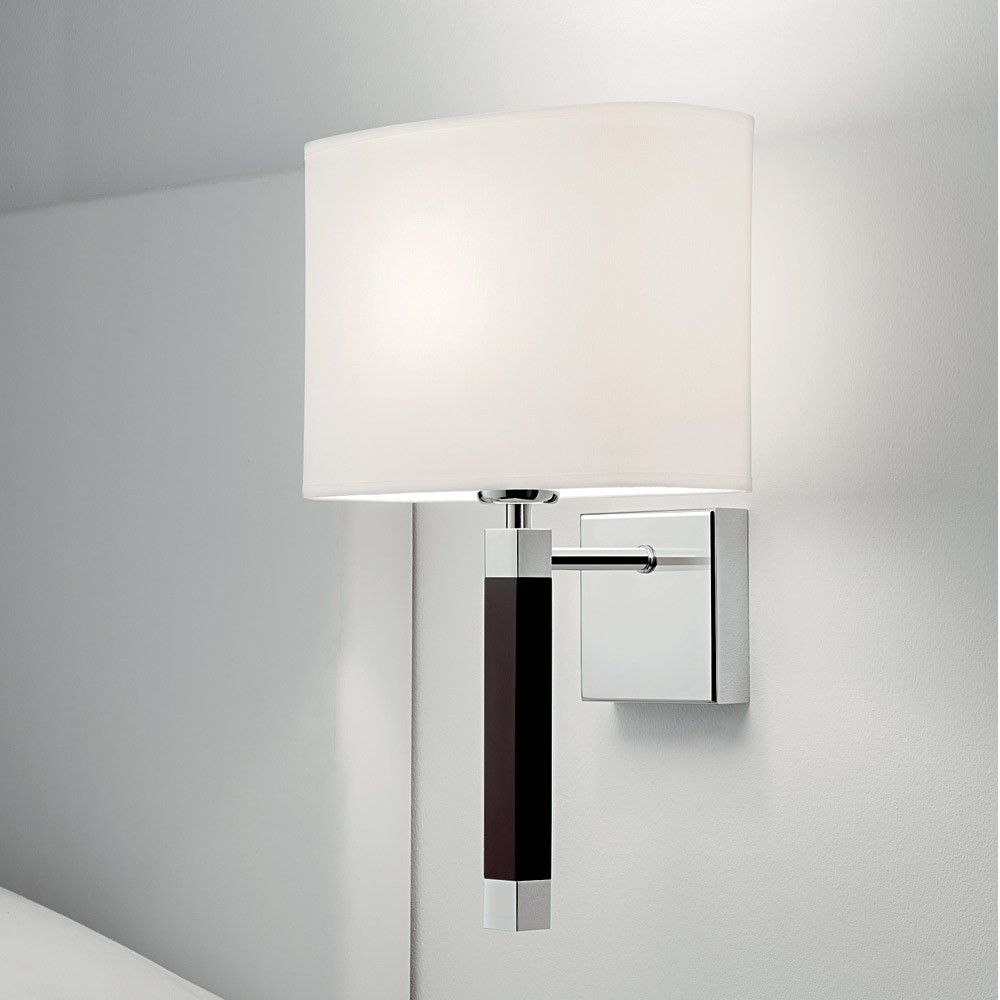 Chelsom urban wall light chrome finish the oujays and squares