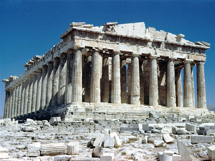 The Parthenon, on the Acropolis in Athens, Greece.