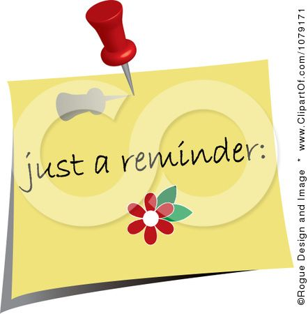Free download Friendly Reminder Clipart for your creation ...