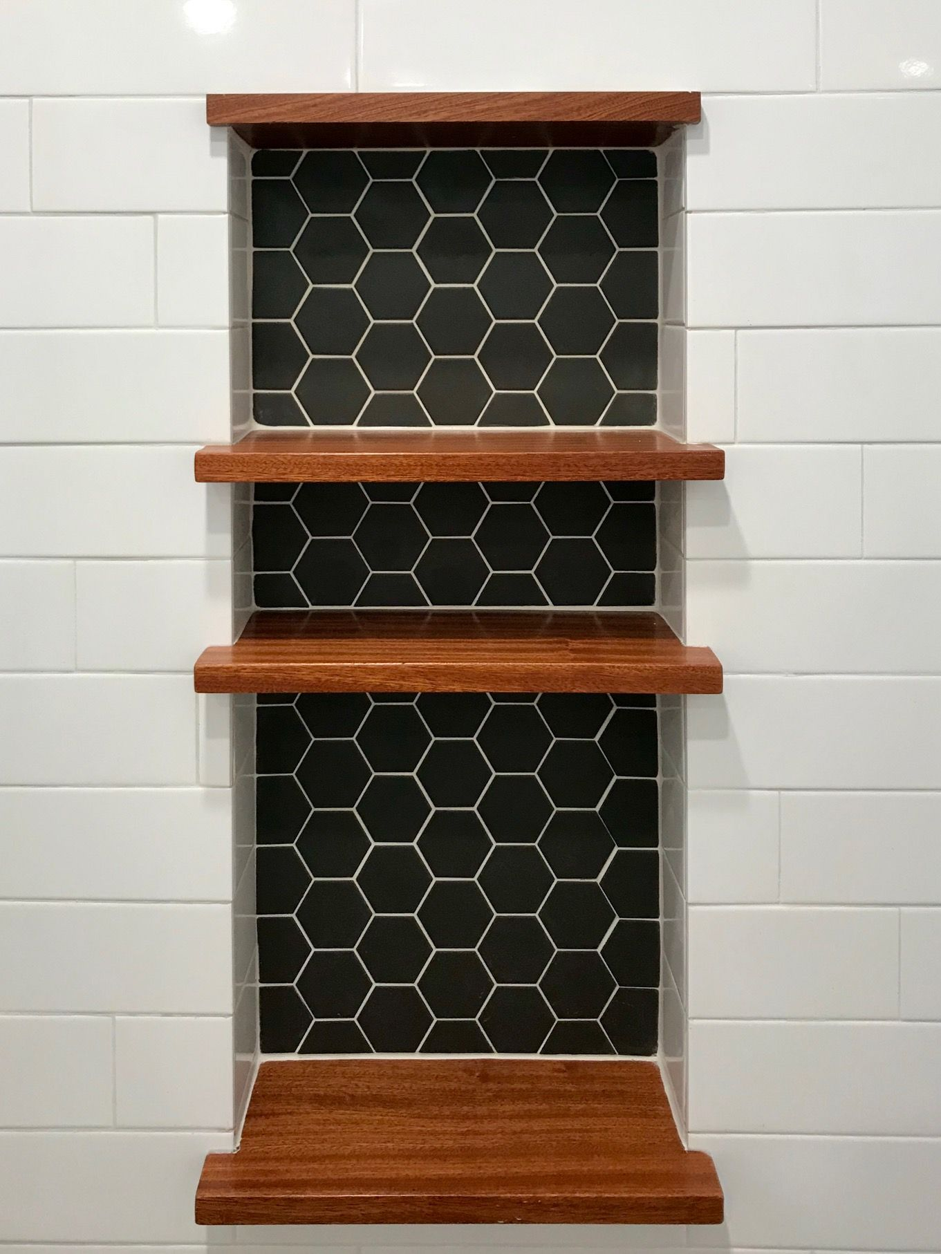 Satori Carbon Matte 12 In X 12 In Unglazed Porcelain Hexagon Wall Tile Lowes Com In 2020 Vinyl Tile Flooring Bathroom Hexagon Wall Tiles Wall Tiles
