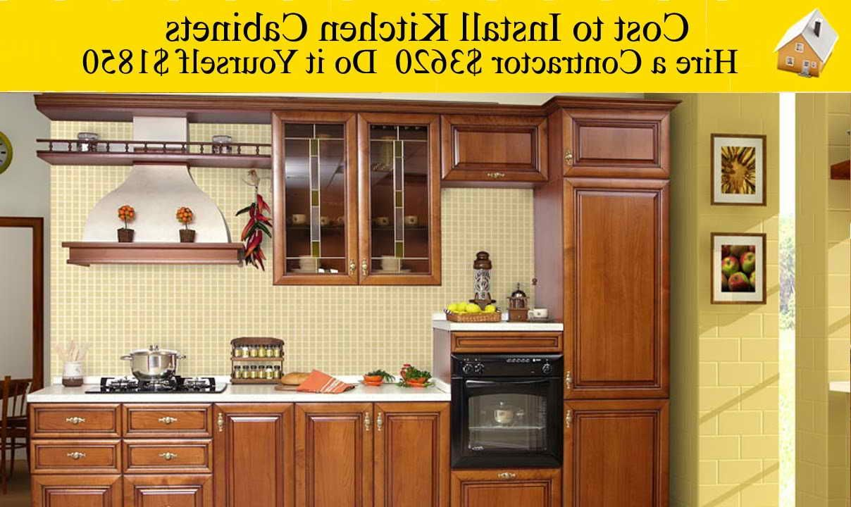How Much To Install New Kitchen Cabinets (Dengan gambar)