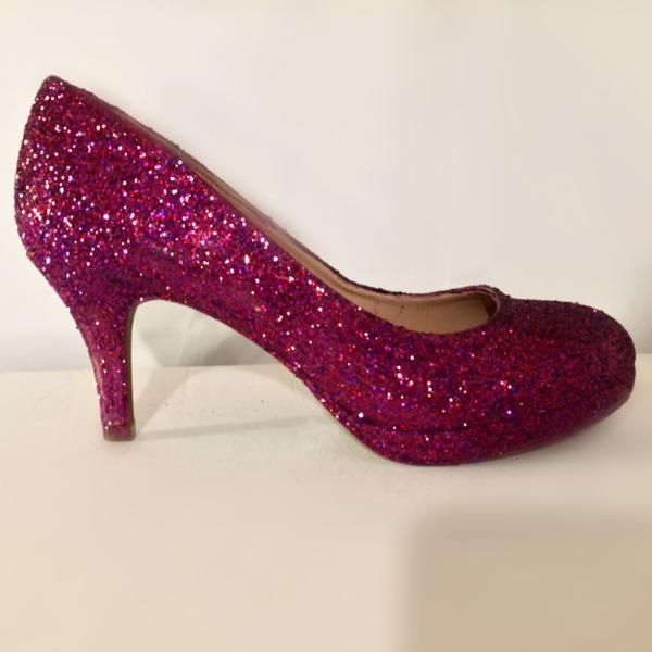 $10 OFF with code: PINNED10 Sparkly Sangria Glitter low Heel Wedding Bride sweet 16 prom shoes