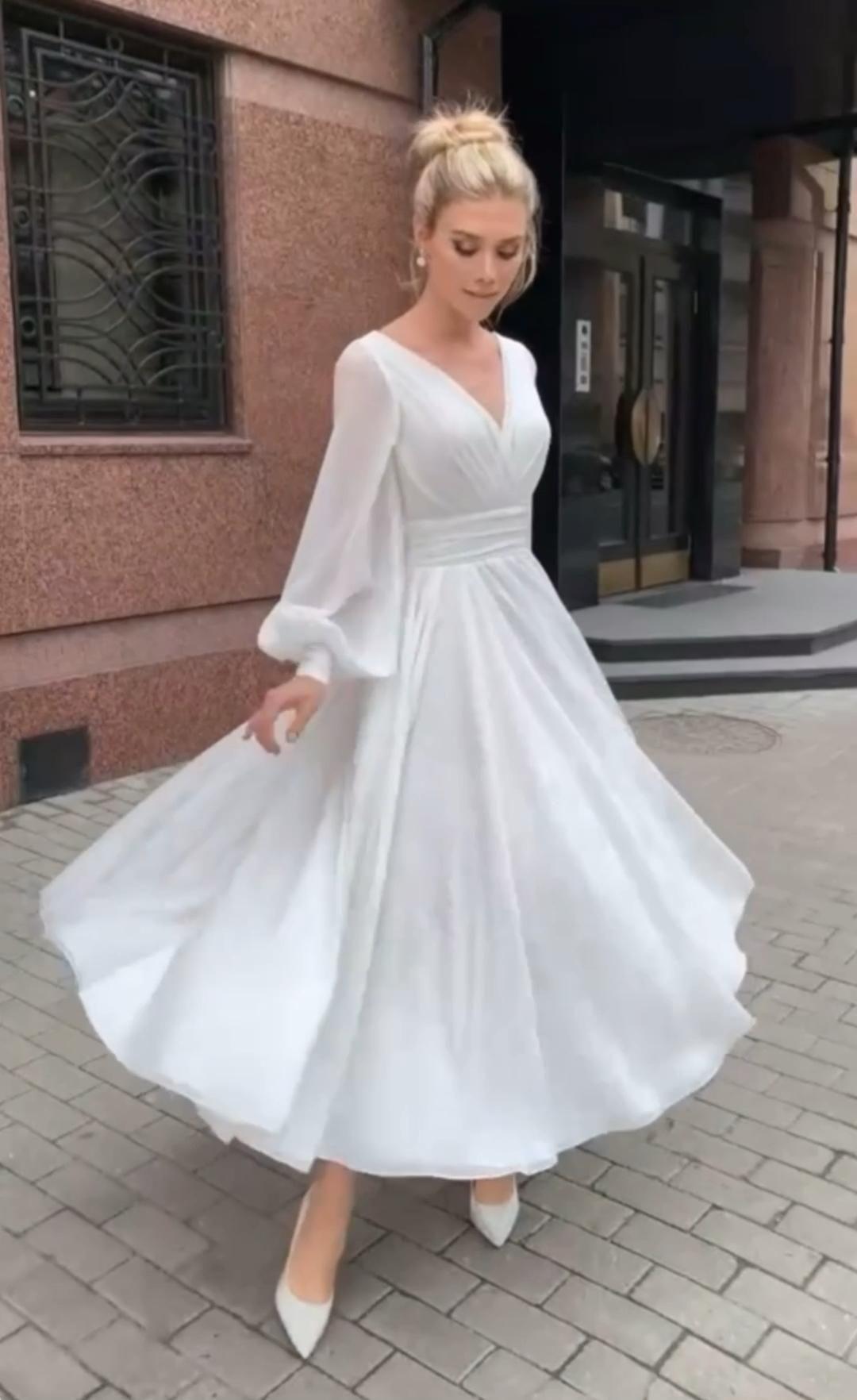 Airy chiffon wedding dress Paylina ❤️