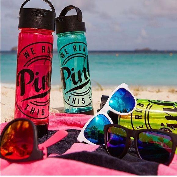 e94d60b004c1b6 PINK Victoria s Secret water bottle sunglasses NWT   Bottle, Colors ...